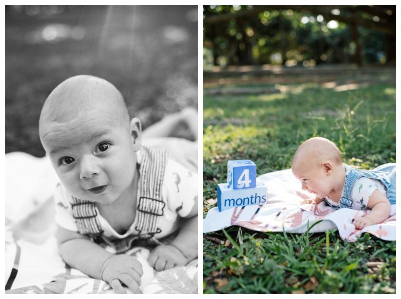 Family Photographer Skidaway Island 4 Month Baby Photos George