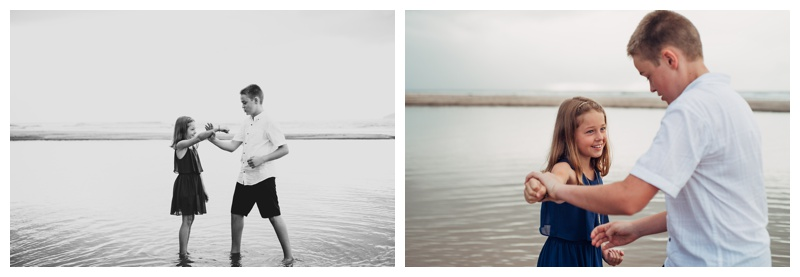 Siblings practicing Tae Kwon Do in Tamarindo Costa Rica. Photographed by Kristen M. Brown, Samba to the Sea Photography.