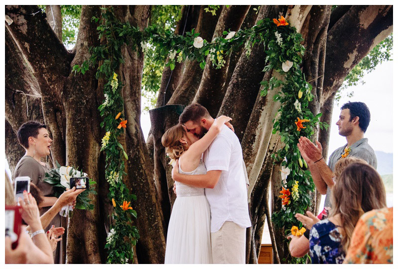 Wedding at Pangas Beach Club in Tamarindo, Costa Rica. Photographed by Kristen M. Brown, Samba to the Sea Photography.