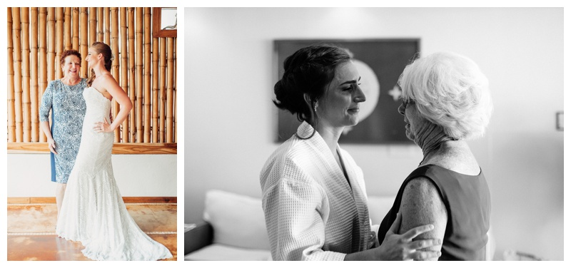 Brides getting ready for their wedding in Tamarindo Costa Rica at Hotel Capitan Suizo. Photographed by Kristen M. Brown, Samba to the Sea Photography.