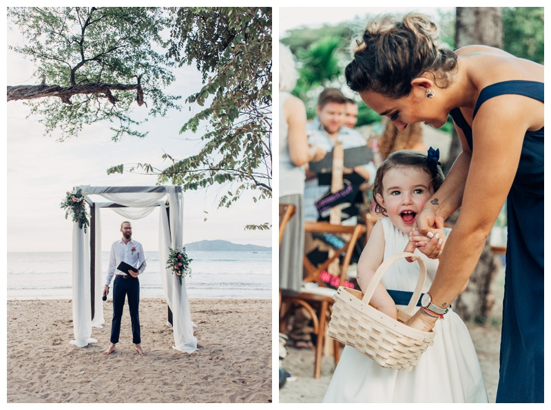 Wedding at Langosta Beach Club in Tamarindo Costa Rica. Photographed by Kristen M. Brown, Samba to the Sea Photography.