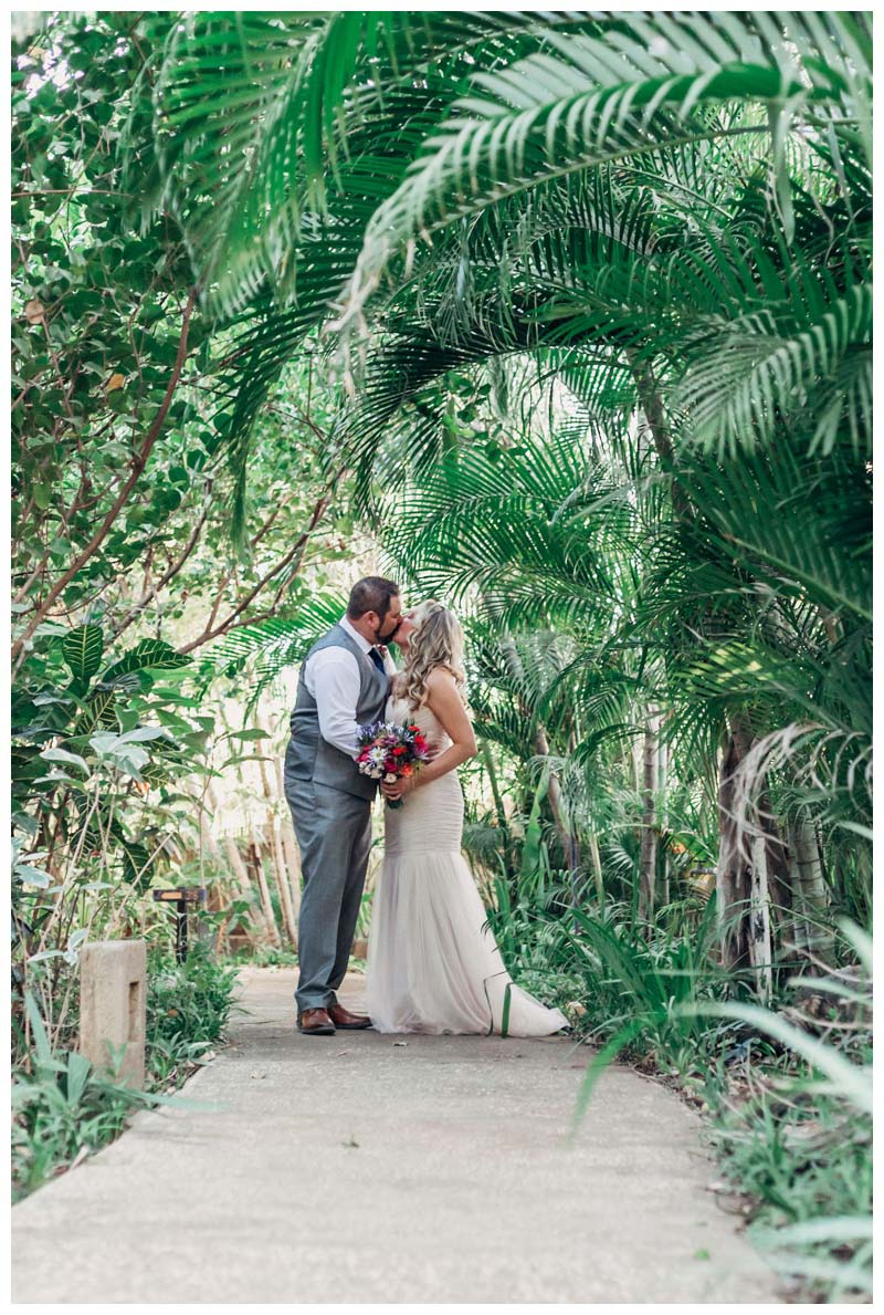 Bride and groom at Cala Luna Boutique Hotel in Playa Langosta Costa Rica. Photographed by Kristen M. Brown, Samba to the Sea Photography.Bride and groom on the beach during sunset in Tamarindo Costa Rica. Photographed by Kristen M. Brown, Samba to the Sea Photography.