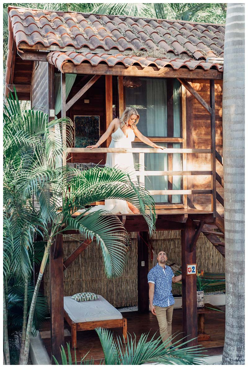 Boho elopement at the Beach Bungalows in Tamarindo Costa Rica. Photographed by Kristen M. Brown, Samba to the Sea Photography.