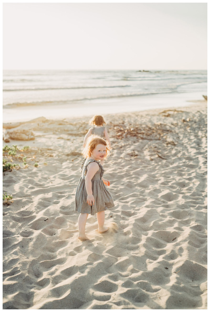 Little girls running on the beach in Nosara Costa Rica. Photographed by Kristen M. Brown, Samba to the Sea Photography.