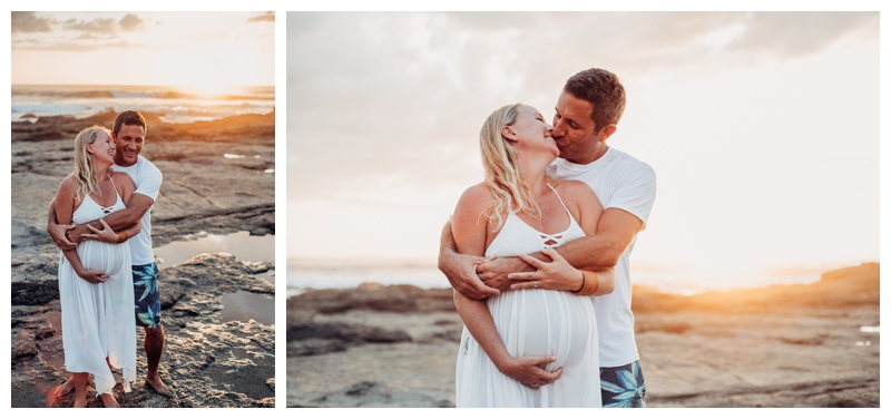 Maternity photos in Tamarindo Costa Rica. Photographed by Kristen M. Brown, Samba to the Sea Photography.