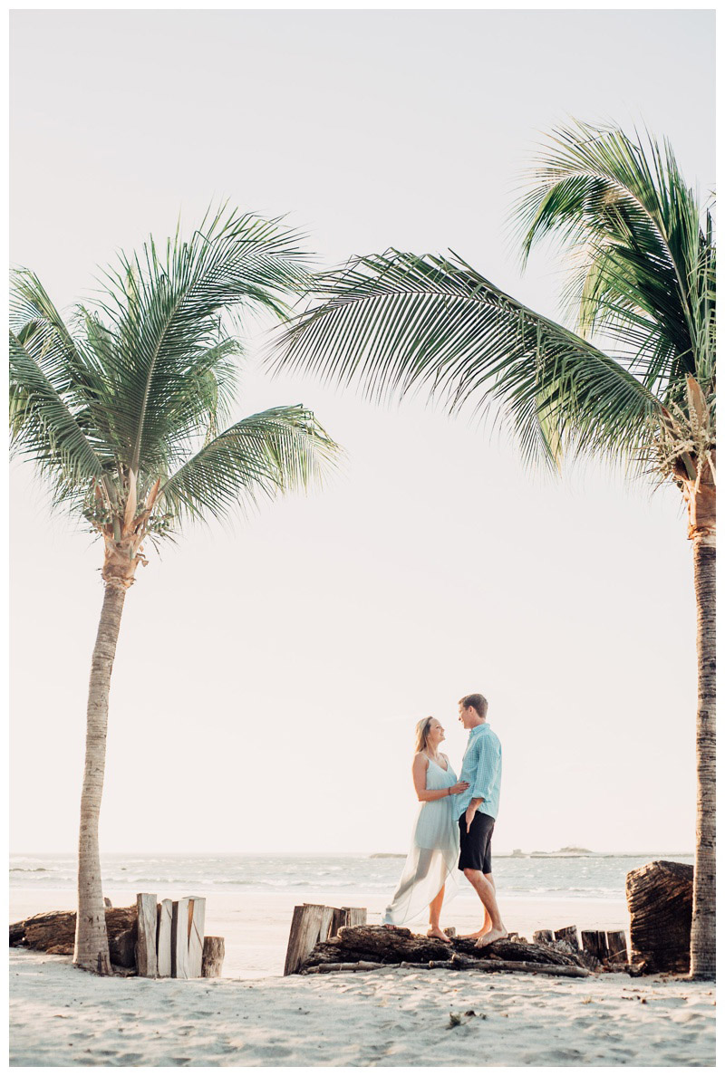 Palm trees on the beach in Tamarindo Costa Rica. Photographed by Kristen M. Brown, Samba to the Sea Photography.