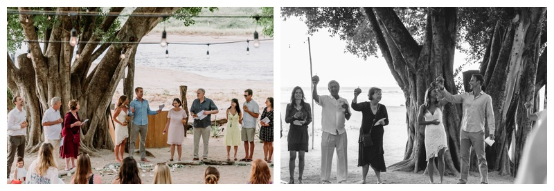 Pangas Beach Club wedding. Photographed by Kristen M. Brown, Samba to the Sea Photography.