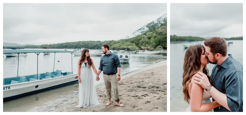 Beach elopement in Costa Rica. Photographed by Kristen M. Brown, Samba to the Sea Photography.