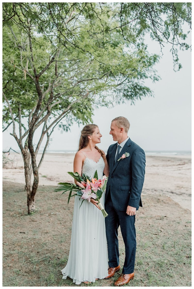 Beach wedding in Tamarindo Costa Rica. Photographed by Kristen M. Brown, Samba to the Sea Photography.