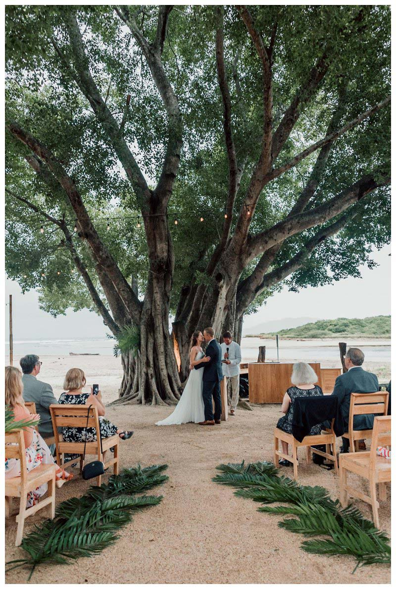Wedding at Pangas Beach Club in Tamarindo Costa Rica. Photographed by Kristen M. Brown, Samba to the Sea Photography.