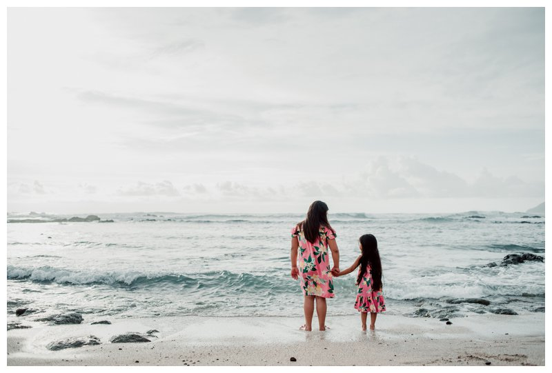 Little girls on the beach in Costa Rica. Calu Luna Playa Langosta Costa Rica family photos. Photographed by Kristen M. Brown, Samba to the Sea Photography.
