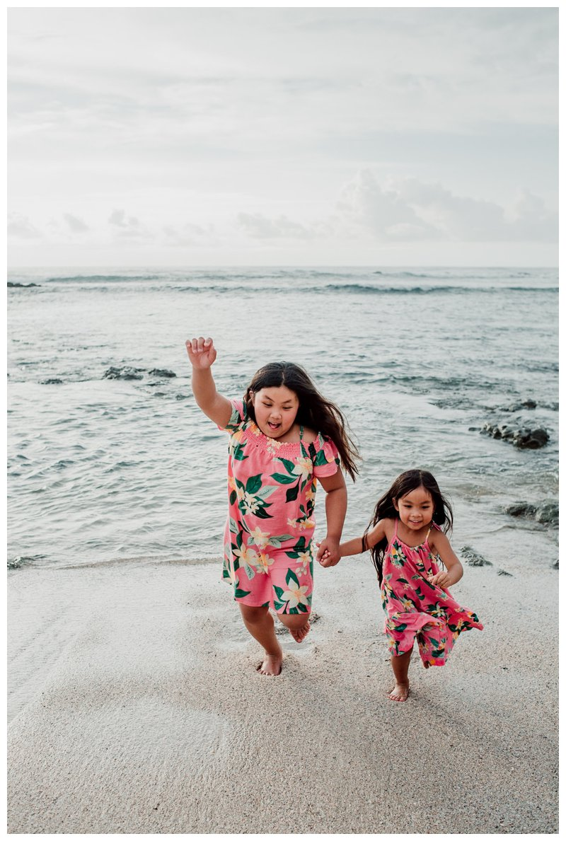 Little girls playing on the beach in Costa Rica. Calu Luna Playa Langosta Costa Rica family photos. Photographed by Kristen M. Brown, Samba to the Sea Photography.