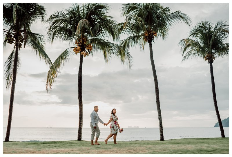 Tropical elopement in Playa Flamingo Costa Rica by Playa Flamingo Costa Rica photographer Kristen M. Brown, Samba to the Sea Photography.