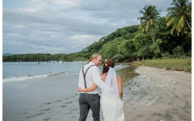 Tamarindo Costa Rica Beach Elopement || Cristina + Brian