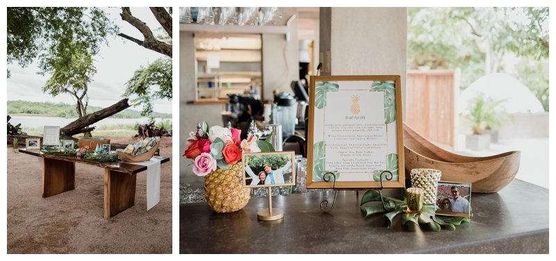 Tropical wedding at Pangas Beach Club in Tamarindo Costa Rica. Photographed by Kristen M. Brown, Samba to the Sea Photography.