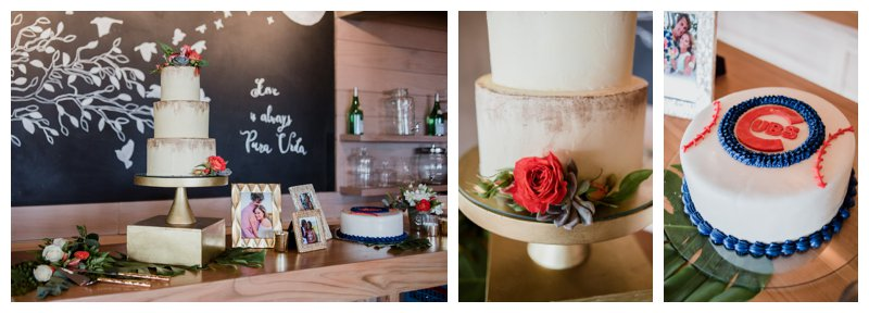 Wedding cake by Victoria Zoch. Tropical wedding at Pangas Beach Club in Tamarindo Costa Rica. Photographed by Kristen M. Brown, Samba to the Sea Photography.