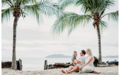 Family Photos at the Beach in Tamarindo Costa Rica || Hall Family
