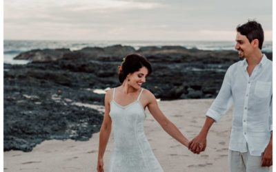 Beach Elopement in Playa Langosta Costa Rica || Marta + Pau