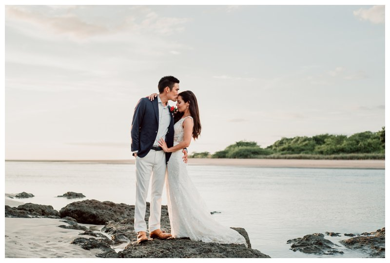 Beach Wedding in Tamarindo Costa Rica at Pangas Beach Club || Rhiannon + Calvin