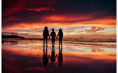 Golden Hour Beach Family Photos in Tamarindo Costa Rica