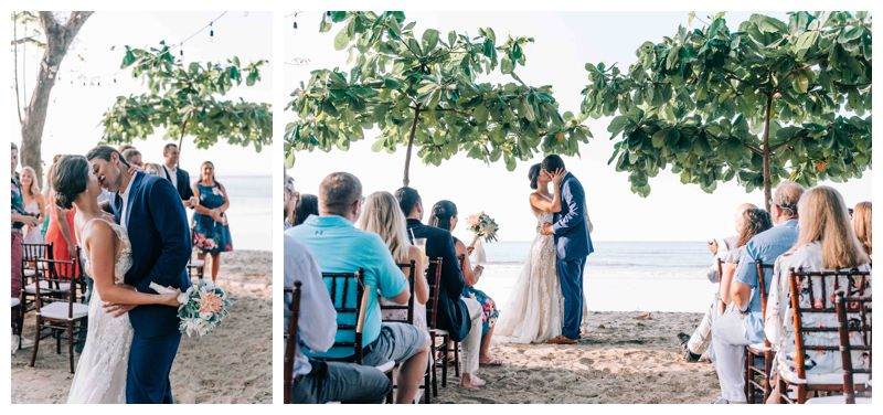 Beach wedding in Tamarindo Costa Rica at Langosta Beach Club photographed by Kristen M. Brown, Samba to the Sea Photography.