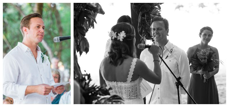Beach wedding ceremony in Playa Conchal Costa Rica photographed by Kristen M. Brown, Samba to the Sea Photography.