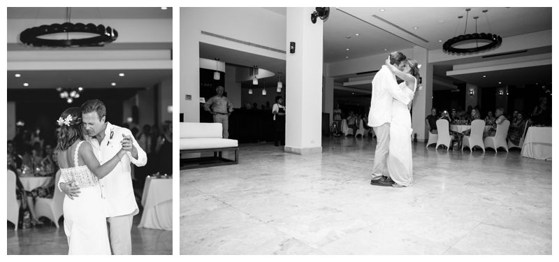 Bride + groom's first dance at Reserva Conchal. Beach wedding in Playa Conchal Costa Rica photographed by Kristen M. Brown, Samba to the Sea Photography.