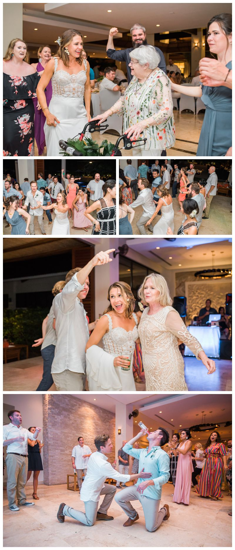 Wedding dancing photos at Reserva Conchal. Beach wedding in Playa Conchal Costa Rica photographed by Kristen M. Brown, Samba to the Sea Photography.
