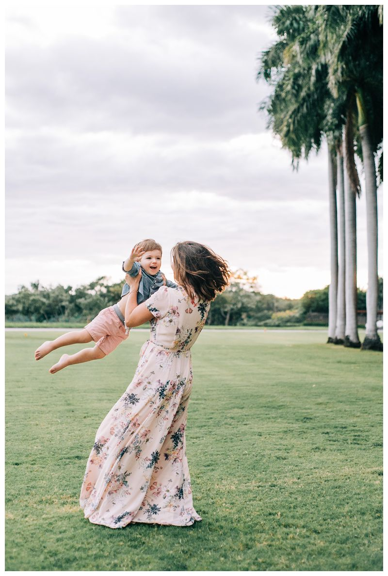Mom playing with her son during family Photos at the Andaz Costa Rica. Photographed by Kristen M. Brown, Samba to the Sea Photography.