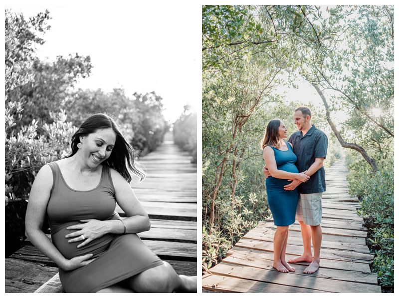 Maternity family photos in Playa Avellanas Costa Rica. Photographed by Kristen M. Brown, Samba to the Sea Photography.