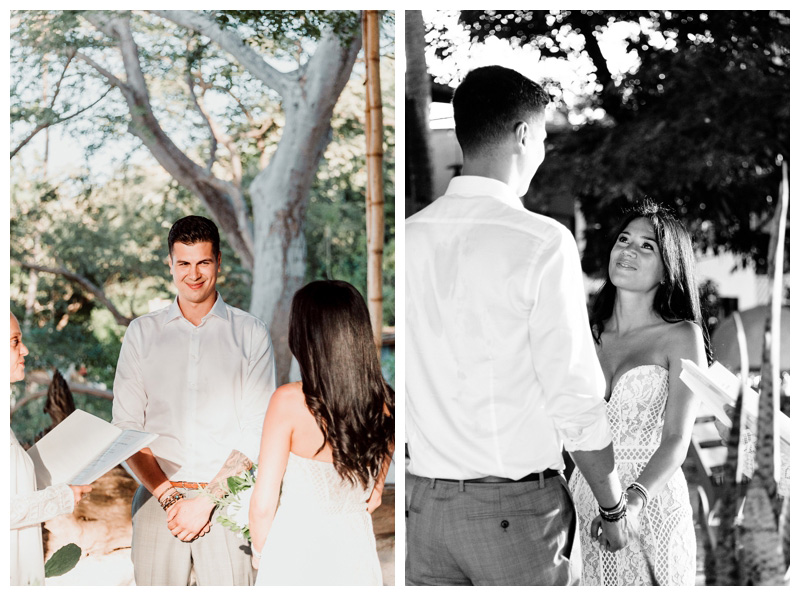 Tamarindo Costa Rica Elopement at Pangas Beach Club. Photographed by Kristen M. Brown, Samba to the Sea Photography.