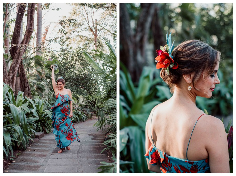 Tropical wedding in Tamarindo Costa Rica bridal portrait. Photographed by Kristen M. Brown, Samba to the Sea Photography.