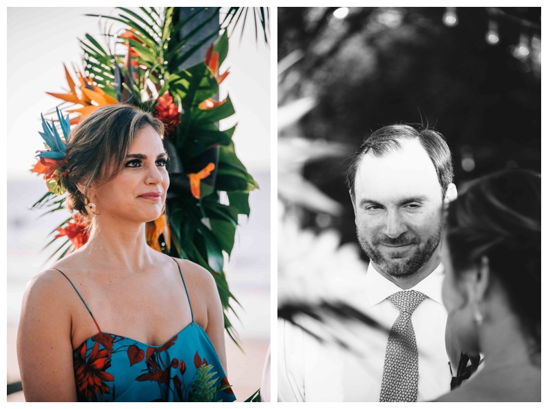 Tropical wedding in Tamarindo Costa Rica. Photographed by Kristen M. Brown, Samba to the Sea Photography.