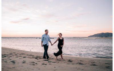 Beach Maternity Photos in Tamarindo Costa Rica || Michelle + Keith:
