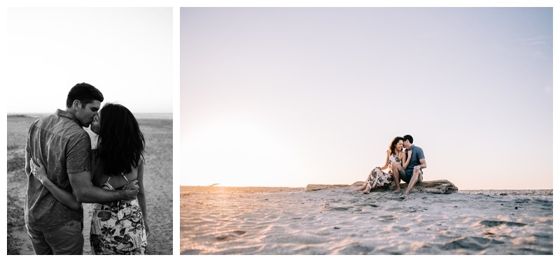 Engagement photos after beach proposal in Tamarindo Costa Rica. Photographed by Kristen M. Brown, Samba to the Sea Photography.