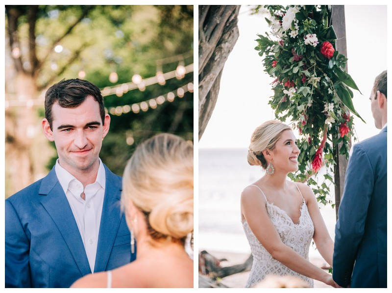 Destination beach wedding in Tamarindo Costa Rica. Photographed by Kristen M. Brown, Samba to the Sea Photography.