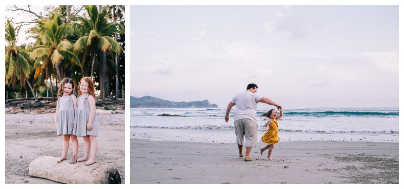 Family photos in Playa Guiones Costa Rica. Photographed by Kristen M. Brown, Samba to the Sea Photography.