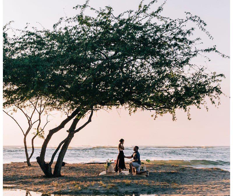 Golden Hour Beach Proposal in Tamarindo Costa Rica || Sarah + Austin: