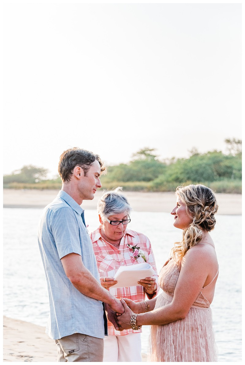 Intimate destination beach wedding in Costa Rica. Photographed by Kristen M. Brown, Samba to the Sea Photography.