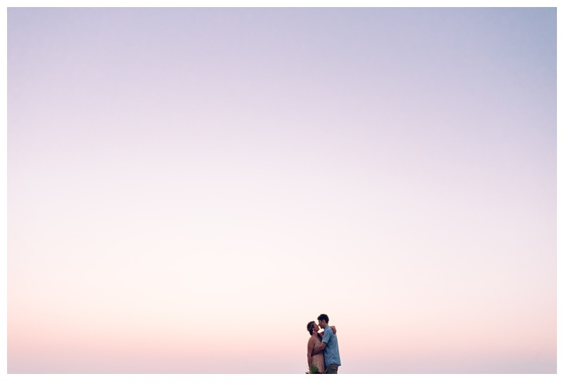 Bride and groom kissing during sunset on the beach in Tamarindo Costa Rica during golden hour. Intimate destination beach wedding in Costa Rica. Photographed by Kristen M. Brown, Samba to the Sea Photography.