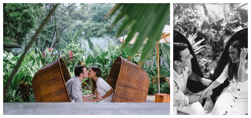 Engagement Photos in Nosara Costa Rica at The Guilded Iguana. Photographed by Kristen M. Brown, Samba to the Sea Photography.
