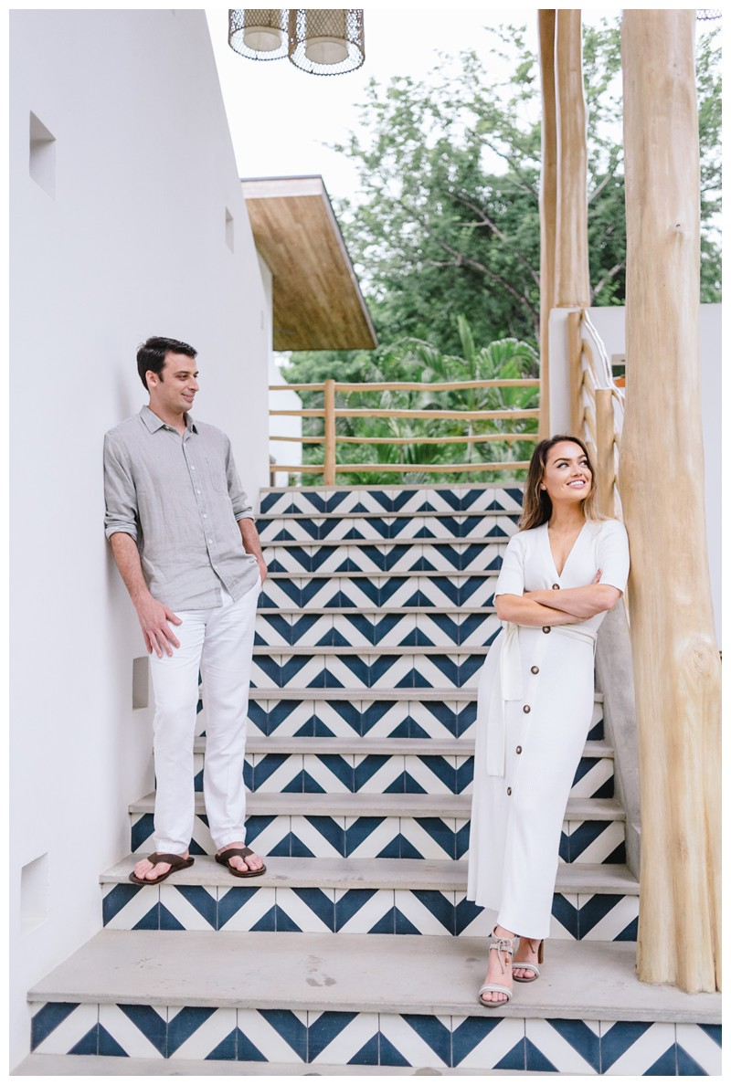 Boho chic hotel in Playa Guiones. Engagement Photos in Nosara Costa Rica at The Nomadic. Photographed by Kristen M. Brown, Samba to the Sea Photography.