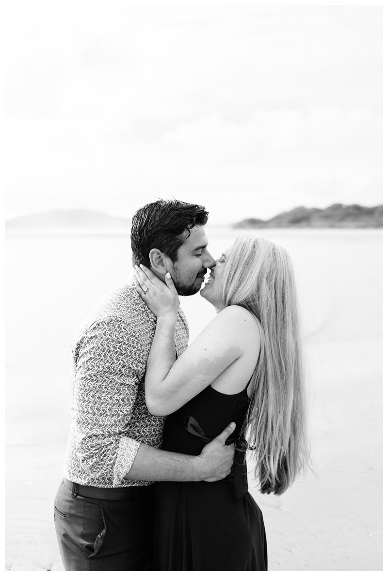 Couple kissing on the beach in Costa Rica. Surprise beach proposal in Tamarindo Costa Rica. Photographed by Kristen M. Brown, Samba to the Sea Photography.Couple kissing on the beach in Costa Rica. Surprise beach proposal in Tamarindo Costa Rica. Photographed by Kristen M. Brown, Samba to the Sea Photography.