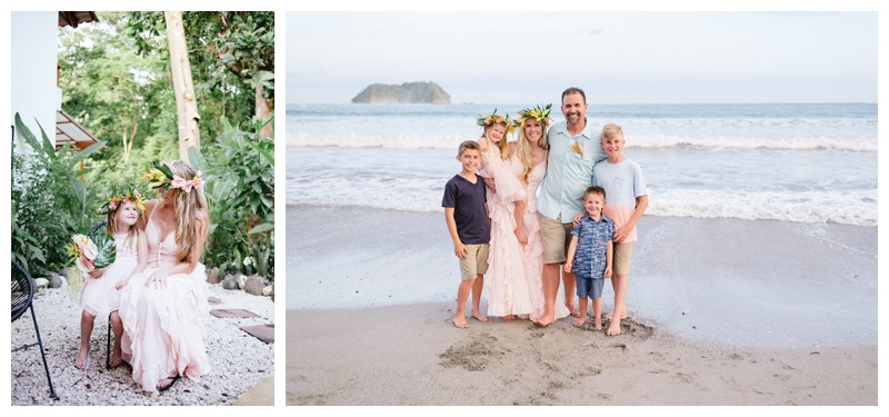 Beach vow renewal in Samara Costa Rica. Photographed by Kristen M. Brown, Samba to the Sea Photography.
