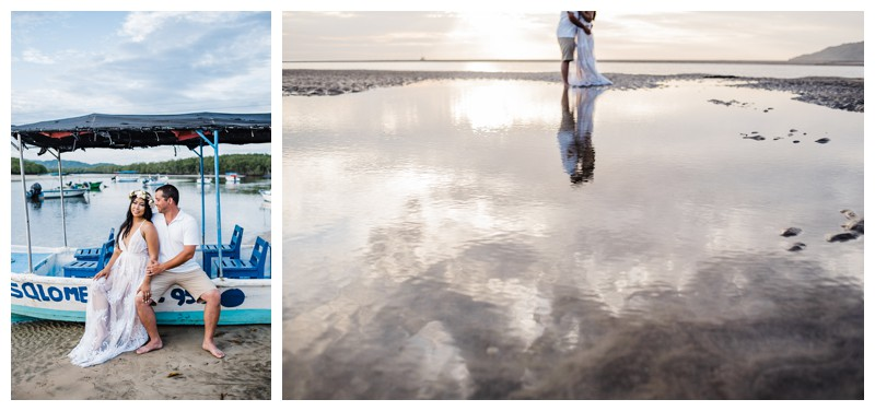 Beach honeymoon photos in Tamarindo Costa Rica. Photographed by Kristen M. Brown, Samba to the Sea Photography.