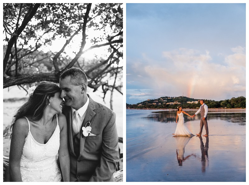 Sunset elopement in Tamarindo Costa Rica. Photographed by Kristen M. Brown, Samba to the Sea Photography.