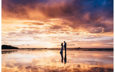 Sunset Elopement in Tamarindo Costa Rica || Sherri + Scott
