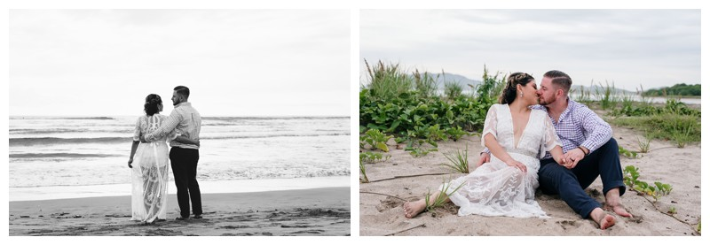 Beach Elopement in Playa Tamarindo, Costa Rica. Photographed by Kristen M. Brown, Samba to the Sea Photography.