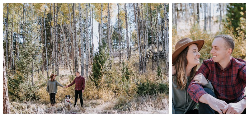 Fall couple's photos in Rocky Mountain National Park Colorado. Photographed by Kristen M. Brown, Samba to the Sea Photography.
