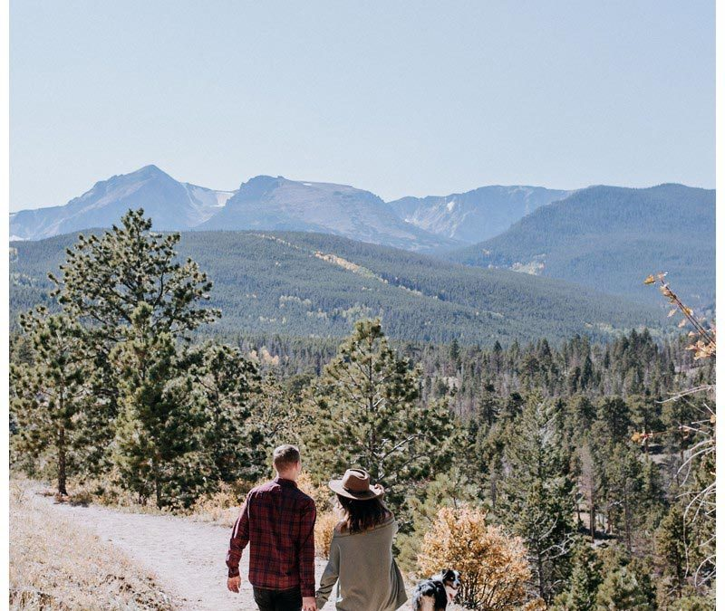 Fall Couple's Photos in Rocky Mountain National Park, CO || Rachel + Justin